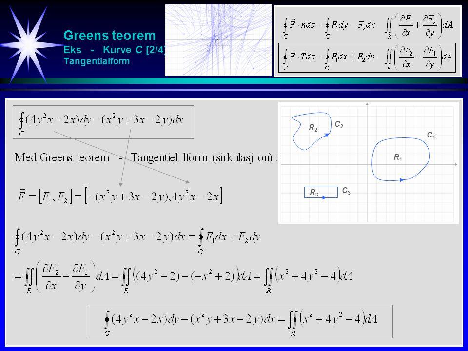 Greens teorem Eks - Kurve C [2/4] Tangentialform